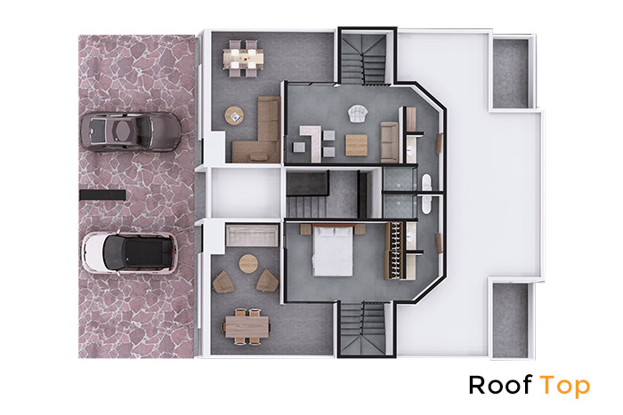 Roof Top modelo Olmo Rooftop, Zuria Residencial